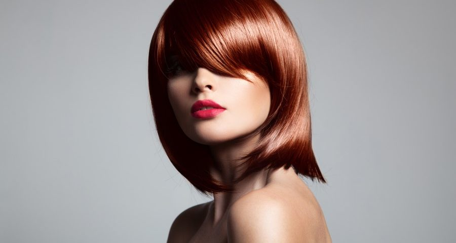 beautiful red hair model with perfect glossy hair PCDABDL