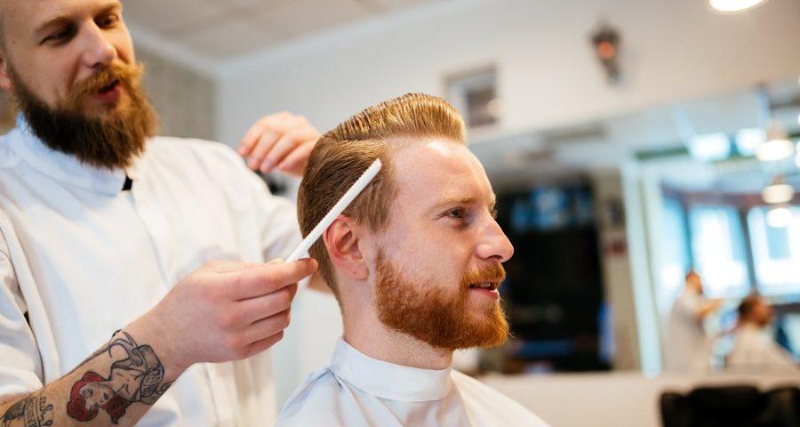 a man getting a hair cut